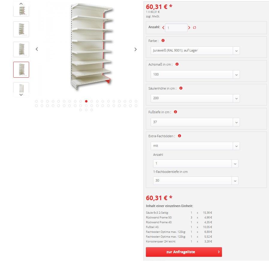 Product Configurator for Shopware